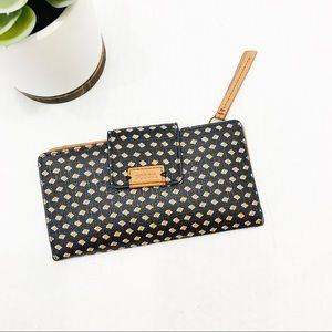 Fossil square dot snap dual sided design wallet